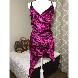 Violet Velvet Dress